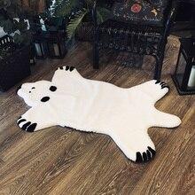 ROWNFUR Искусственный меховой коврик ковёр шубы для дома дестской комнаты спальня Ребёнка белый мягкий пушистый для кошк