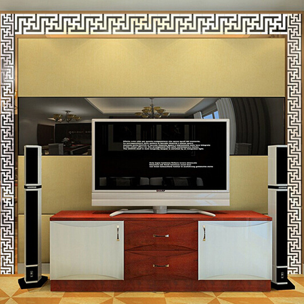 Hot sale muslim islamic posters 3d acrylic mirror wall border wall hot sale muslim islamic posters 3d acrylic mirror wall border wall art vinyl decals sticker for house decoration in wall stickers from home garden on amipublicfo Image collections