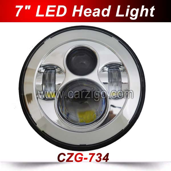 CZG734 40w 7 inch round led headlight DOT Emark 12 24v high low beam high bright 30w 7 round led headlamp for jeep wrangler 4x4 smartbuy urban trend