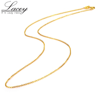 Genuine 18K White Yellow Gold Chain Necklace Pendant 18 inches au750 jewelry necklace Women fine gift