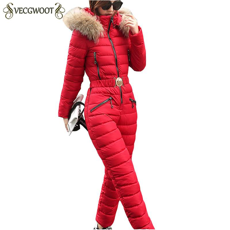 2019 Fashion Winter New Women Cotton Jacket Siamese Sets Slim Females Parkas Thicker Warm Coat Hooded