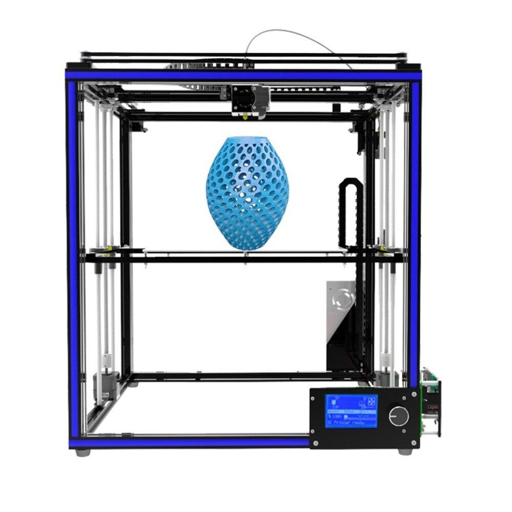 X5S 3D Printer DIY Kits Aluminium Profile Seal 12864 LCD Controller Bowden Extruder Big Heatbed Plate Filament 1.75mm US Plug все цены