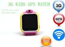 """3G GPS Детские умные часы Q75 дети GPS часы телефон с сим SOS WI-FI Камера 1.54 """"сенсорный родитель Управление приложение для смартфонов"""