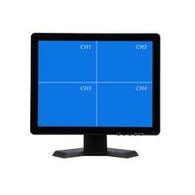 17 Inch מסך תצוגת QUAD טלוויזיה במעגל סגור Tft צג led עם מעטפת מתכת & 4 BNC/VGA למחשב ומולטימדיה & Donitor תצוגה & מיקרוסקופ