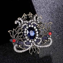 Fashion Trendy Large Wedding Brooches Bouquet Shiny Fine Turkish Jewelry Vintage Broach Collar Brooch Men Colares Bijuterias UK