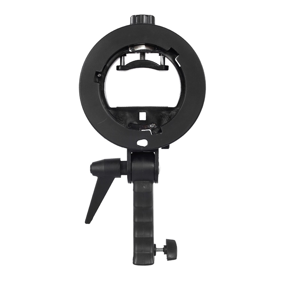 S-Type Bracket Holder with Bowens Mount for Speedlite Flash Snoot Softbox Beauty dish Reflector UmbrellaS-Type Bracket Holder with Bowens Mount for Speedlite Flash Snoot Softbox Beauty dish Reflector Umbrella