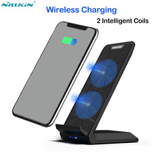 Nillkin 10W Qi Fast Wireless Charger for iPhone X XR XS Max Charging Phone Holder for Samsung Note 9 8 S8 S9 S10 Plus Xiaomi Mi9