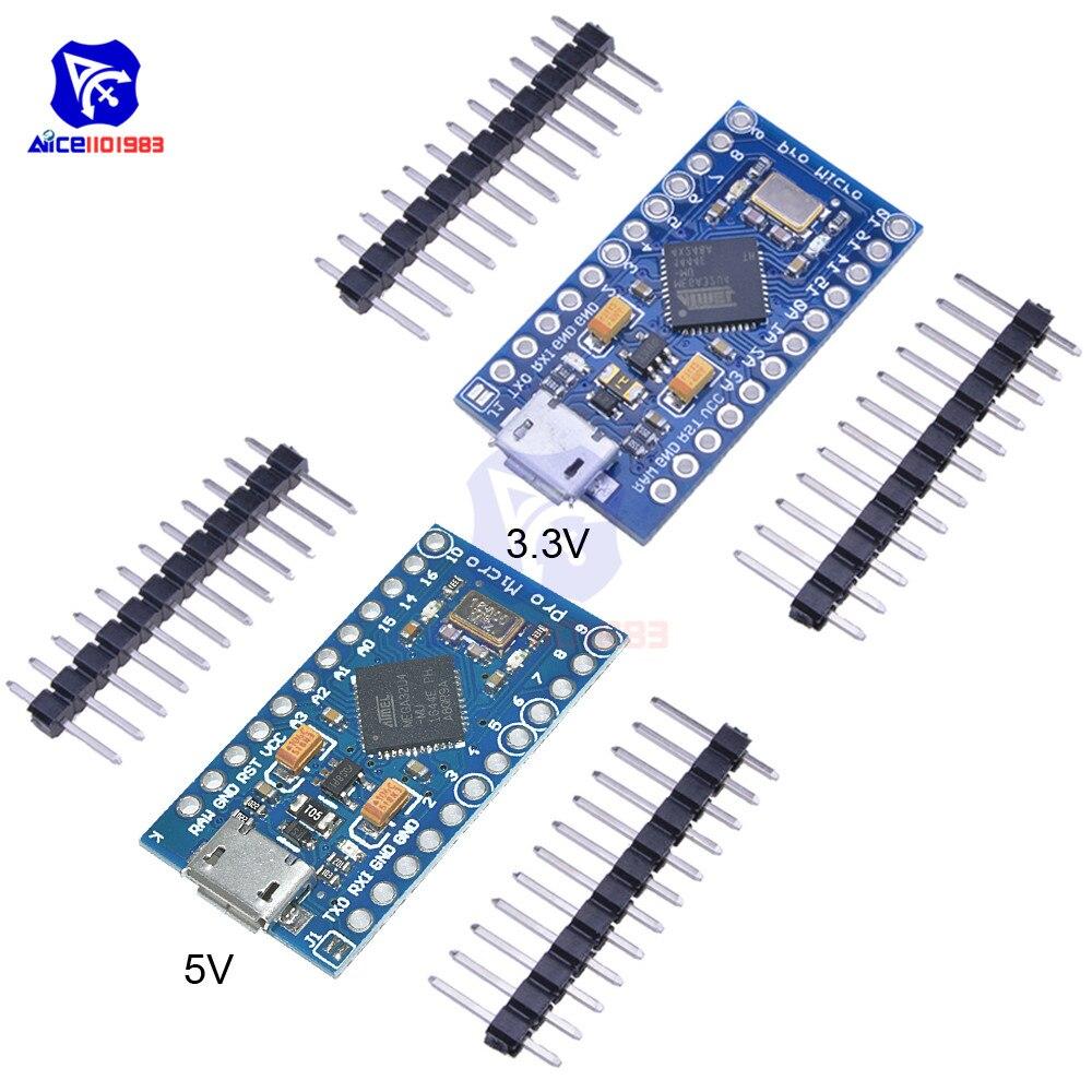Micro USB ATmega32U4 Pro Micro 3.3V/5V 8MHz/16MHz Module For Arduino Leonardo ATMega32U4 Controller Pro Micro Replace ATmega328