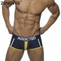 2017 Men Underwear Cotton Patchwork Comfortable Men's Sexy Boxers Underwear Wholesale Gay Shorts