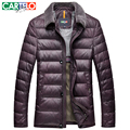CARTELO/Brand 90% Duck M-xxxl Middle-age Casual Fur Collar Down Jacket Multi Pocket Winter Male Jackets Warm Thick Coat For Men