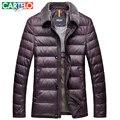 CARTELO/Marca 90% de Pato M-xxxl Gola De Pele Para Baixo Casaco de Meia-idade Casuais Multi-bolso Inverno Masculino jaquetas Casaco Quente Grossa Para Os Homens