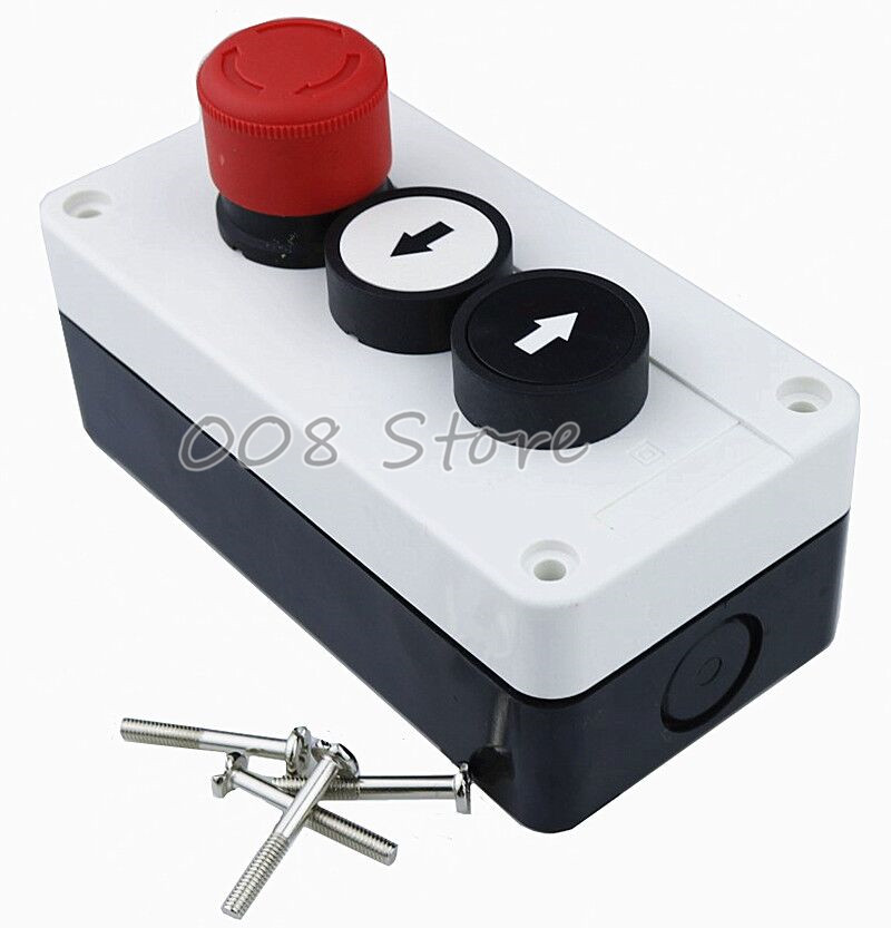 цена на NC Emergency Stop NO Black White Momentary Push Button Switch Station