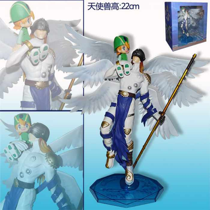 Free Shipping 9 Anime Digital Monster Digimons Angemon with Takaishi Boxed 22cm PVC Action Figure Collection Model Doll Toy free shipping super big size 12 super mario with star action figure display collection model toy