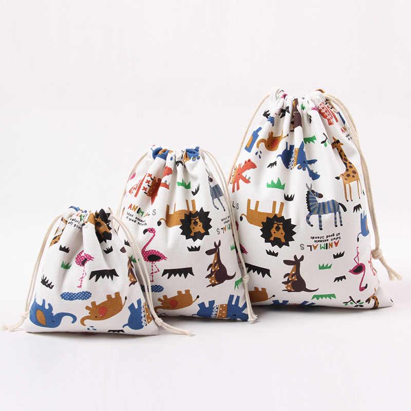 Saco De Cordão De Linho de Algodão feito à mão saco de pó saco de Armazenamento de roupas de viagem Mala Sapatos Cueca Saco de Armazenamento de Viagem da lona