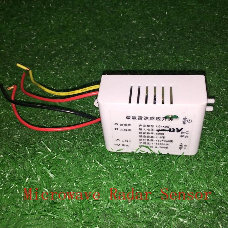 High Quality Adjustable microwave radar sensor switch PIR switch Human sensor switch 12v new original ifs204 door proximity switch high quality