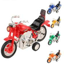 Mini Motorcycle Toy Pull Back Diecast Motorcycle Early Model Educational Toys Cherryb(China)