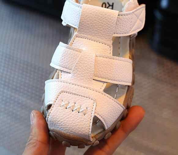YWPENGCAI 2019 Yaz Toddler Çocuk Sandalet Kapalı Ayak Çocuklar plaj ayakkabısı Yumuşak Kauçuk Taban Erkek Sandalet #7LV0136