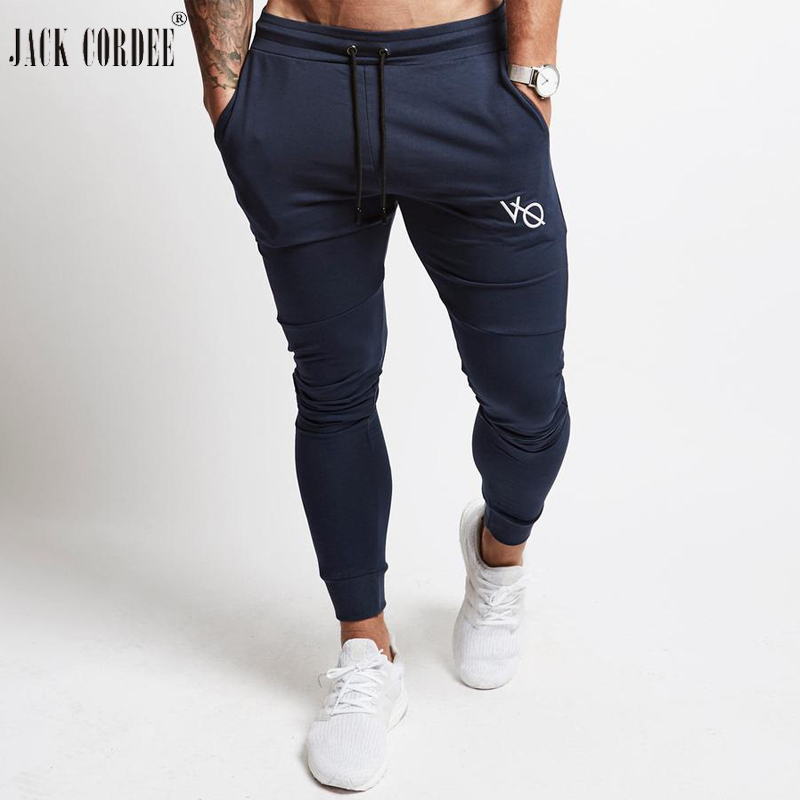 JACK CORDEE Jogger Pants Men Sweatpants Streetwear Workout Skinny Joggers Trousers Mens Fitness Clothing Bottoms Joggingbroek
