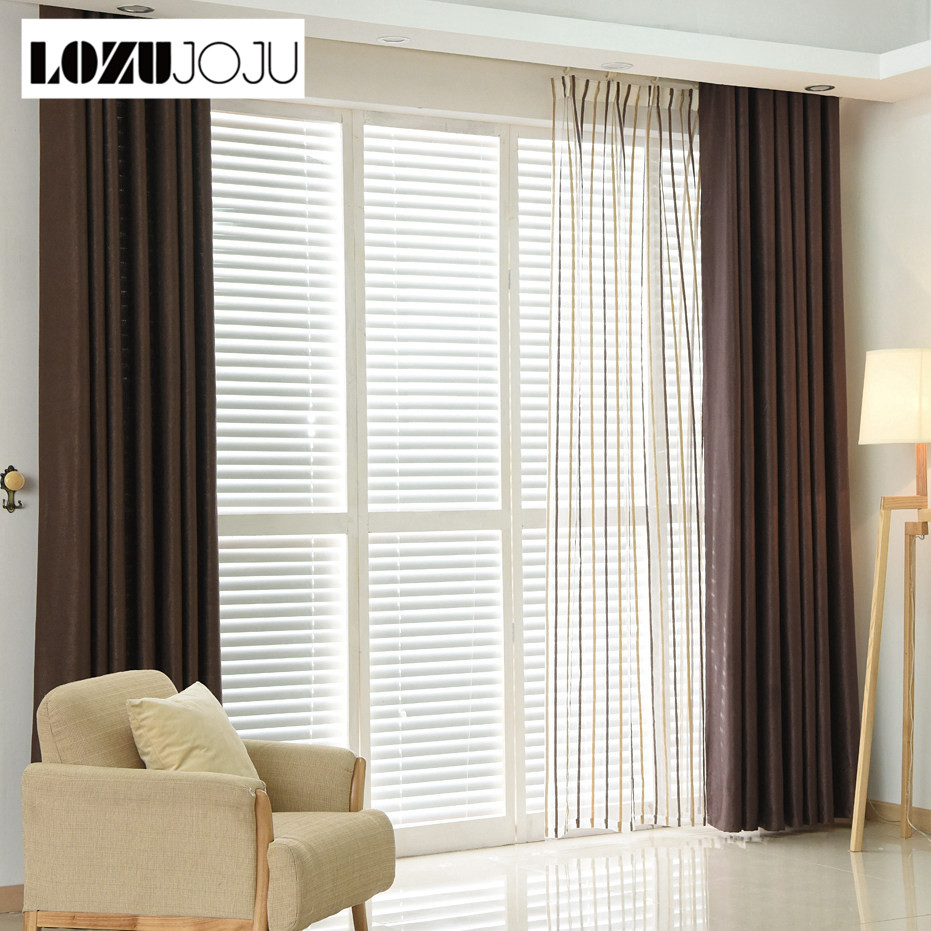 LOZUJOJU Plain dyed blackout curtain kitchen door window curtains for living room full shade panel solid color window treatments
