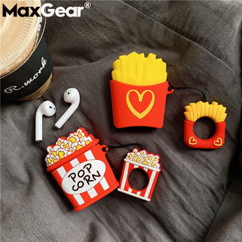 For Apple AirPods Earpods Silicone Case Cute French Fries Protective Cover Bluetooth Wireless Earphone air pods Cassa Accessorie