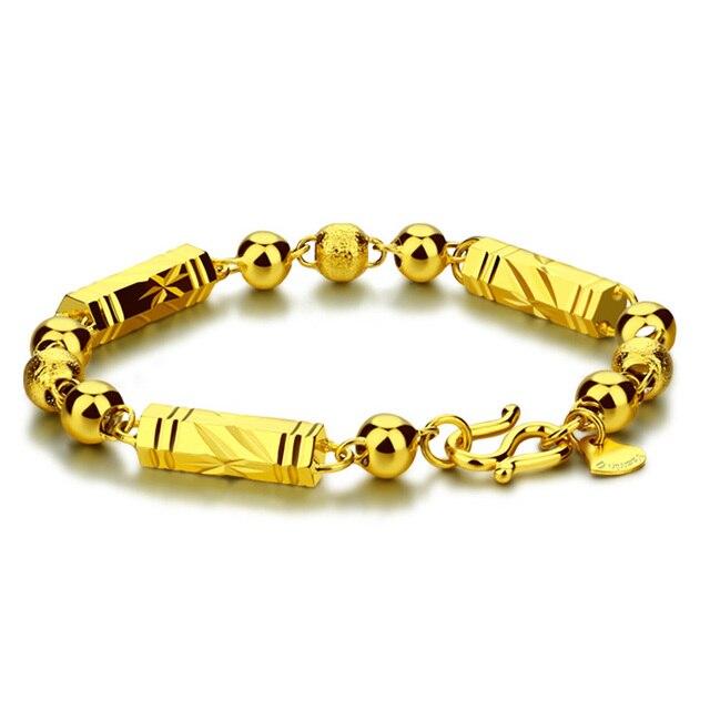 c23e7e875ced44 Hip hop mężczyzna bransoletka złota bransoletka, ręcznie sieci trakcyjnej.  Moda i osobowość 7mm 23