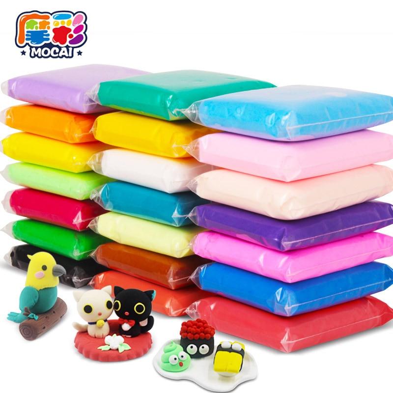 Mocai Clay Smart Handgum Magnetic Plasticine12 Untuk 36 Warna Cahaya Tanah Liat Karet non-toksik Mainan untuk Anak-anak Pasir Ajaib