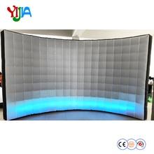 DHL популярные пользовательские 4 м Длинные надувные светодиодный стены Photo booth фон с светодиодный полоски на светодиодный настенный для вечерние свадебные украшения