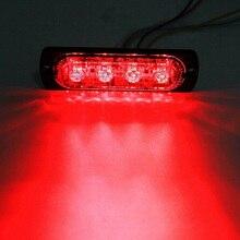 4 светодиодный внедорожный автомобиль грузовик безопасность срочная Рабочая противотуманная лампа красный светильник 12V 800LM