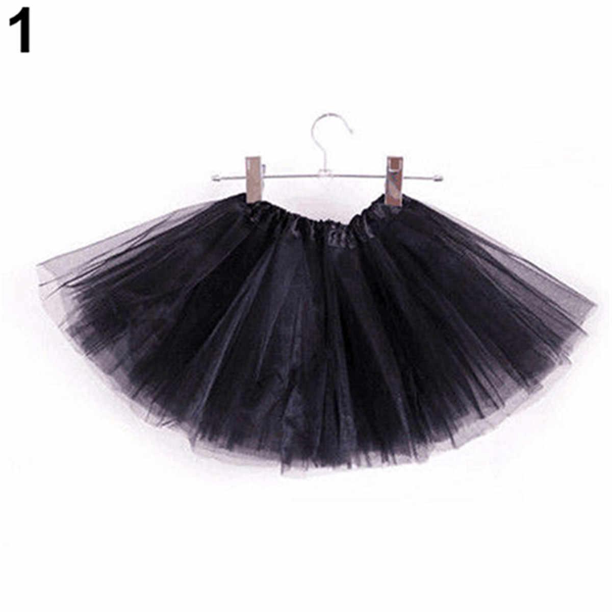 Encantadora suave de bebé niños falda tutú de baile para niña de 3 capas de niño pequeño pettiskirt los niños Falda de baile