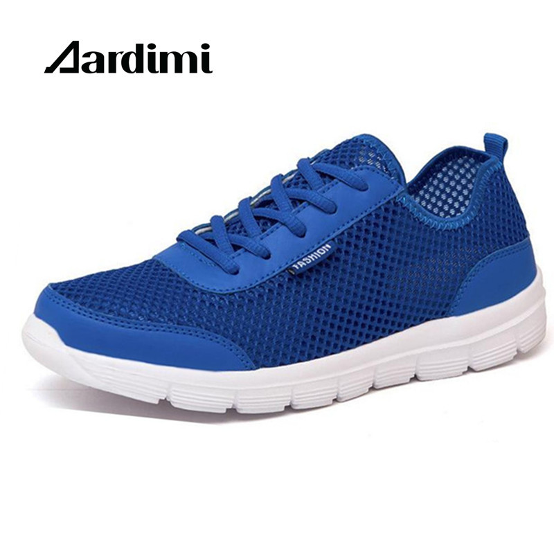 Big size 35-46 mesh unisex casual shoes summer&autumn men flats shoes breathable outdoor footwear trainers lovers mesh shoes
