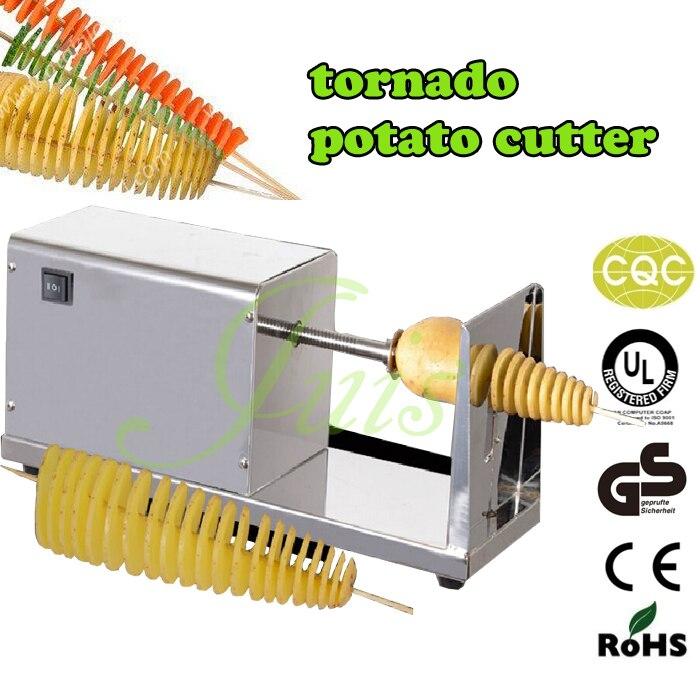 Kartoffelspirale kartoffelschneidemaschine + Gemüsejulienne Spiralschneider + 500 stücke bambusstock elektro tornado kartoffelschneider twister