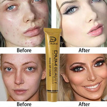 Full Coverage Cream Concealing Foundation Concealer Makeup Silky Smooth Texture Pores Natural Liquid