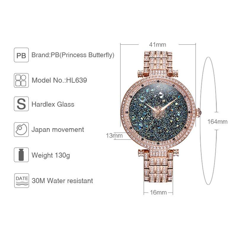 PB Πριγκίπισσα μόδας πεταλούδα μόδας - Γυναικεία ρολόγια - Φωτογραφία 4