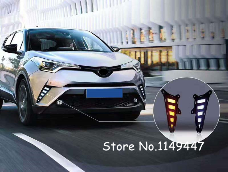 For Toyota C HR 2016 2017 2018 Car styling font b Exterior b font Front Air