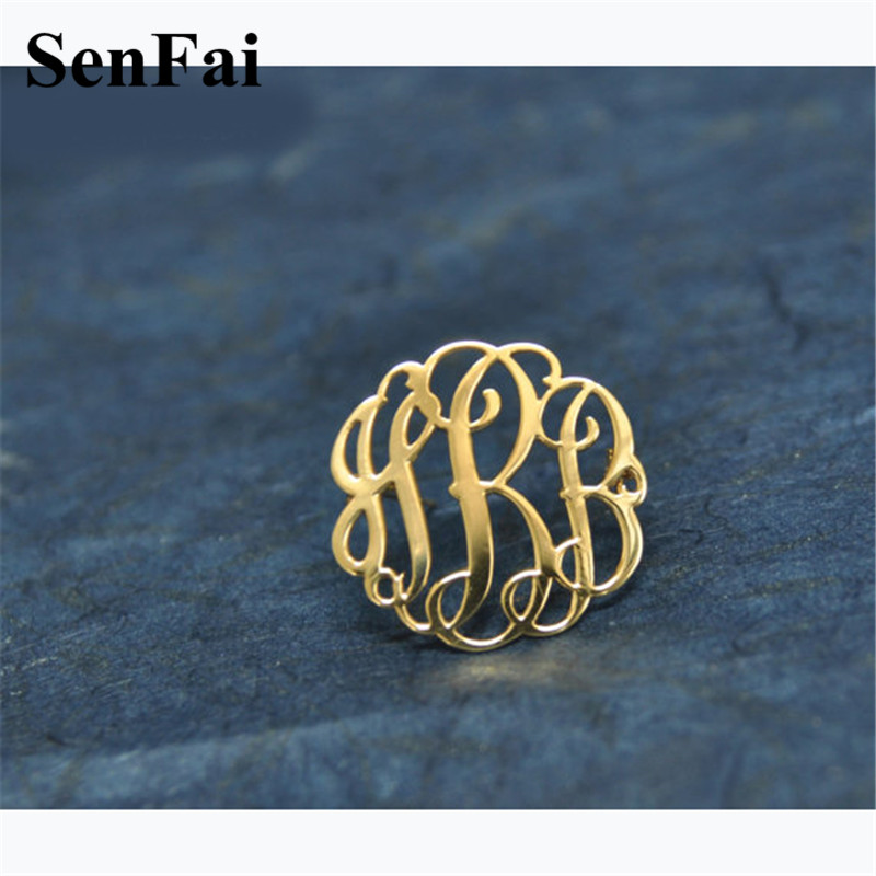 2018 Hot Sale Custom Brooch Pin Name Brooches Pins For Women Men Initials Suit Logo Label Pin Wedding Party Fashion Jewelry Gift