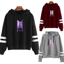 BTS Logo Striped Colorful Hoodies (26 Models)