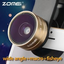 ZOMEI 2in1 Universal Clip-on 0.36X Wide Angle + Macro camera lens for i Phone