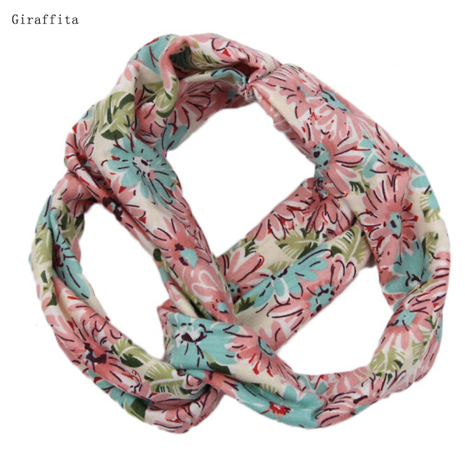 Bohemian Style Elastic Headbands Printed Floral Turban Girls Flower Hair Band Women Lady Kids Headwear Accessories
