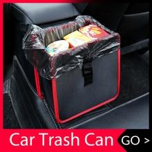 ถังขยะรถยนต์แบบพกพาไดรฟ์ Bin แขวนขยะกลับที่นั่งกันน้ำ Dustbin จัดเก็บกล่อง