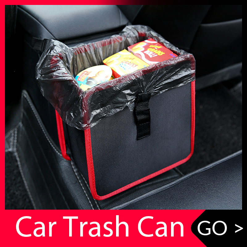 Car Trash Can Portable Drive Bin Hanging Wastebasket back seat storage bag Waterproof Dustbin Storage organizer box