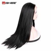 Wignee Dài Kinky Straight Hair Tổng Hợp Ren Phía Trước Tóc Giả Chịu Nhiệt Glueless Cosplay Tóc Phụ Nữ Tóc Giả Cho Người Mỹ Gốc Phi
