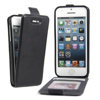 For IPhone5 5S Case Luxury Vertical Flip Leather With Card Slots Cover For IPhone 5 5S