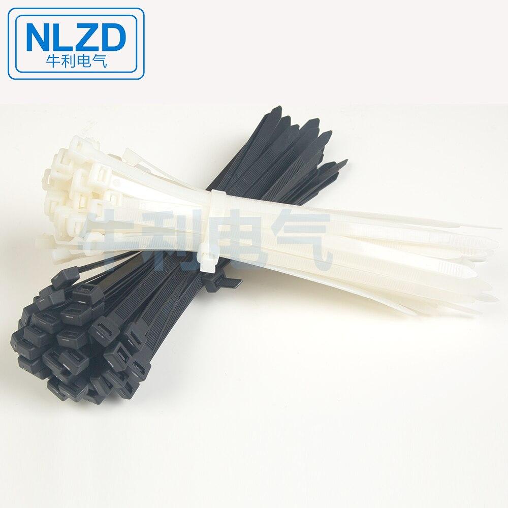 Qualité Heavy Duty Nylon Zip Wrap Cable Ties 370 Mm Par 4.8 mm