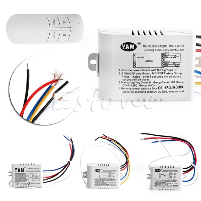 Wireless 1/2/3/ Channel ON/OFF Lamp Remote Control Switch Receiver Transmitter Electrical Equipment Supplies