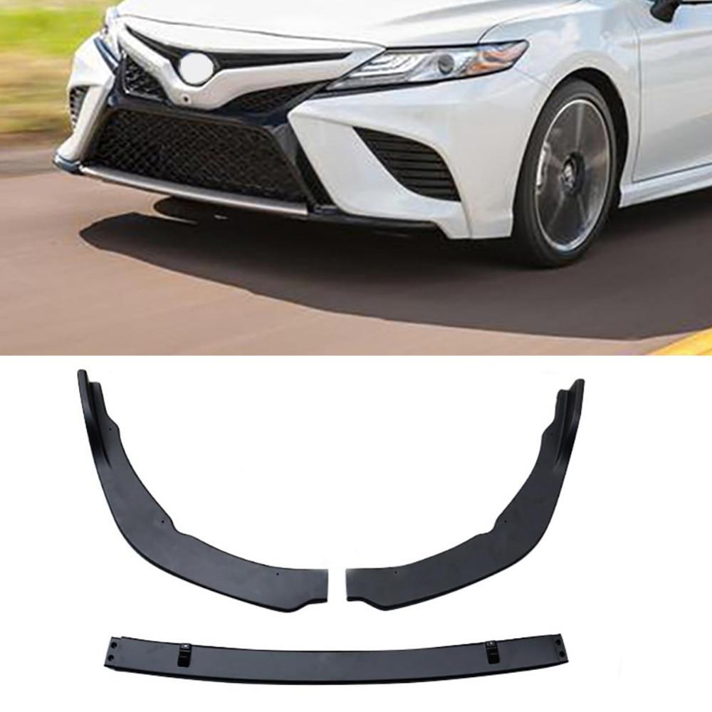 Garniture de couverture de lèvre de pare-chocs avant noir mat ABS pour Toyota Camry 2018 SE/XSE offre spéciale accessoires Auto