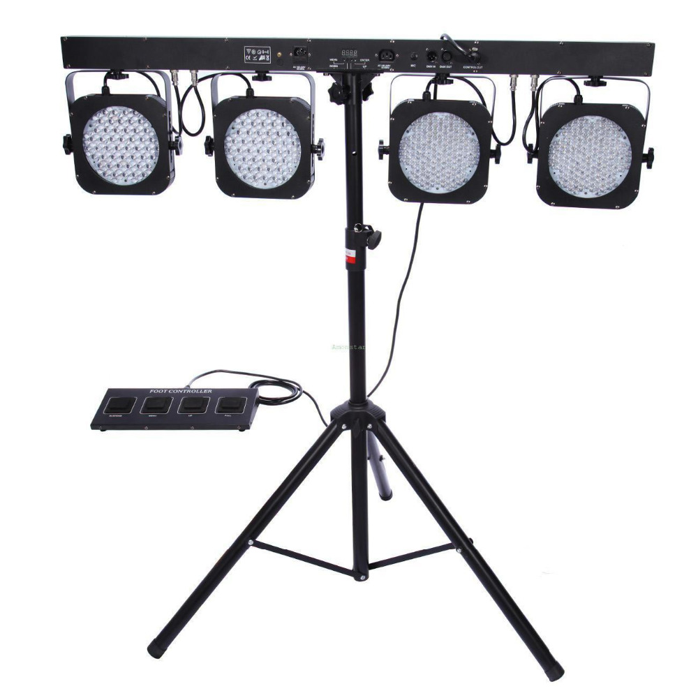shipping from us tripod 4 bar dmx led stage wash light system party band show bar w foot switch