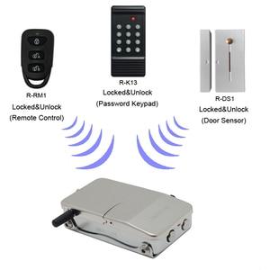 Image 5 - RAYKUBE serrure de porte électronique avec télécommande clés ouverture Invisible serrure intelligente sans fil sans clé serrure de porte R W39