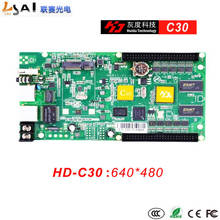 Full-color Async controllers C30 Control Range:640*320 2of50PIN c30 hd c30 wireless sending and receiving system all in one full color control card specialized in small led display