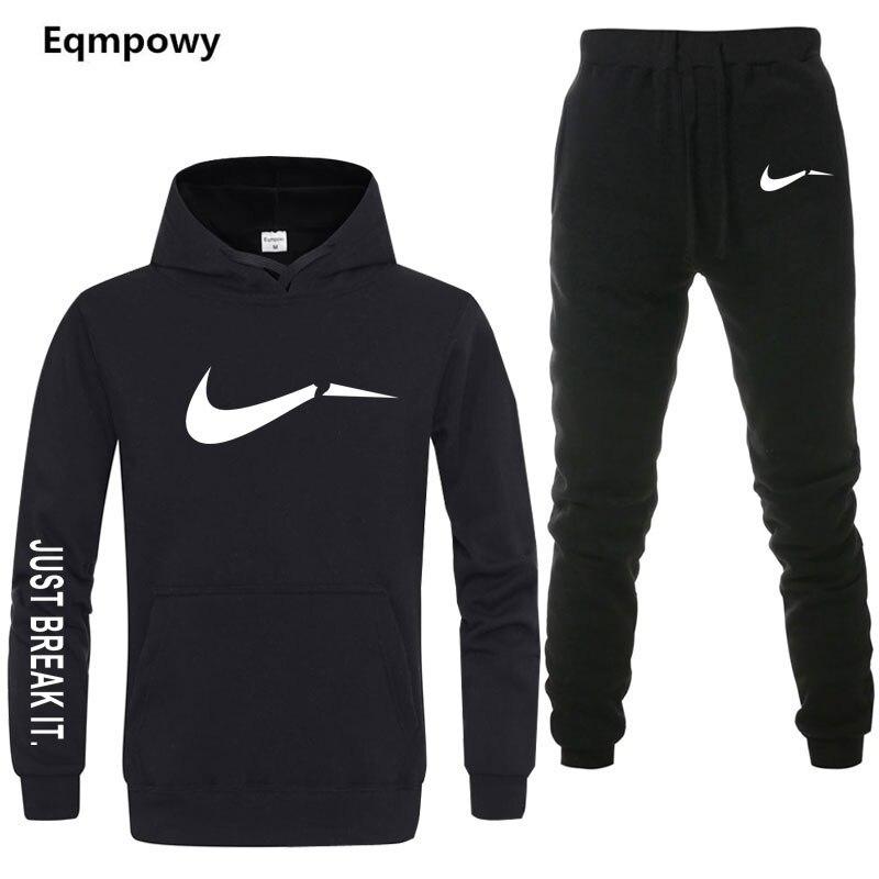 Nuevo 2019 hombres chándales sólo romper Outwear sudaderas con capucha ropa  deportiva conjuntos Hombre Sudaderas chaqueta 9a2f09d33e775