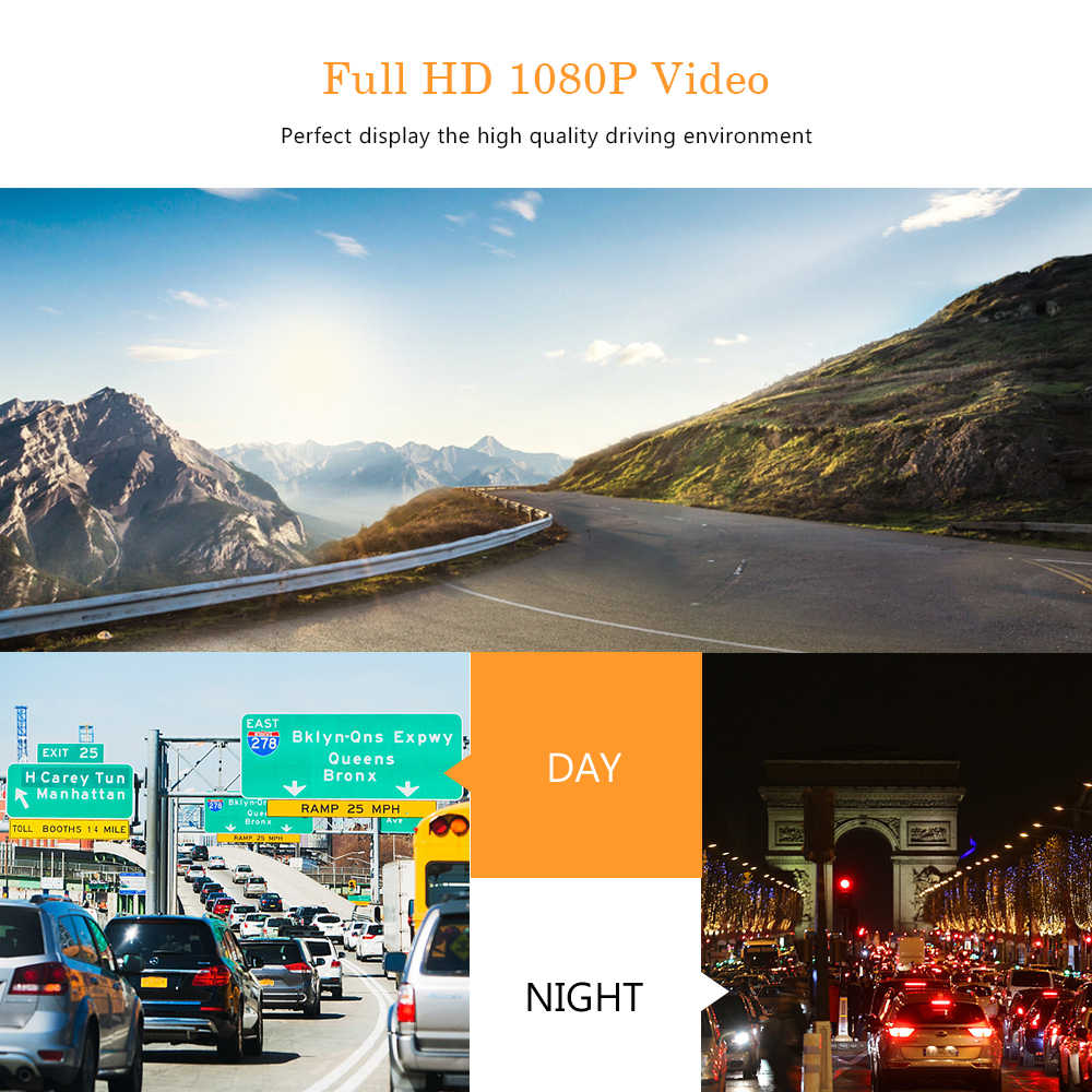 """2019 داش كام جديد سيارة بعدسة مزدوجة كاميرا DVR كامل HD 1080P 4 """"IPS T678 الجبهة الخلفية الأزرق مرآة للرؤية الليلية مسجل فيديو كاميرا"""